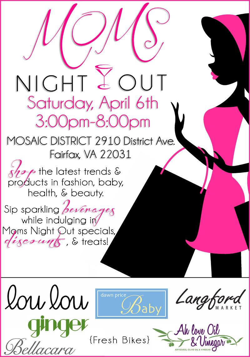 You're Invited: Saturday, April 6th 3 PM-8 PM Moms Night Out at Dawn Price Baby (Mosaic District)